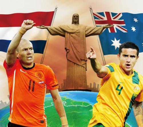 2014年巴西世界杯B组小组赛:澳大利亚vs荷兰   足球话题区